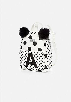 a55538e963 Initial Polka Dot Mini Backpack