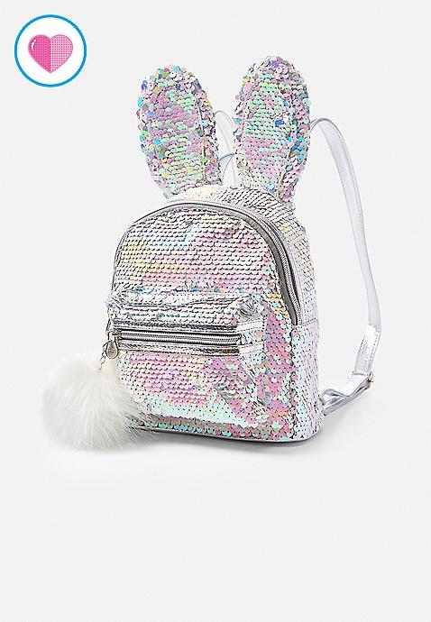 f9ad8aadbe Bunny Flip Sequin Mini Backpack