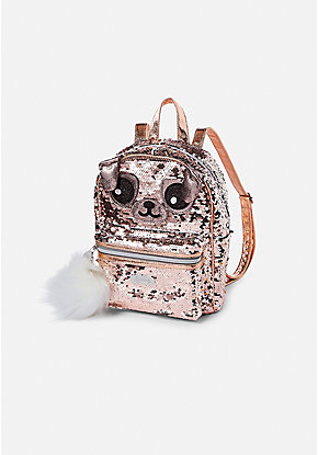 Pugacorn Flip Sequin Mini Backpack