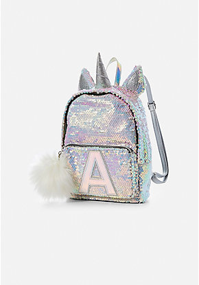 Initial Unicorn Flip Sequin Mini Backpack