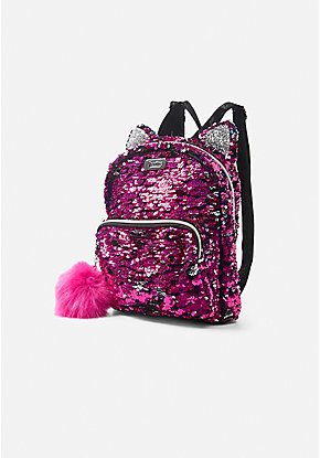 Flip Sequin Kitty Mini Backpack