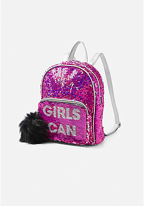 Girls Can Flip Sequin Mini Backpack