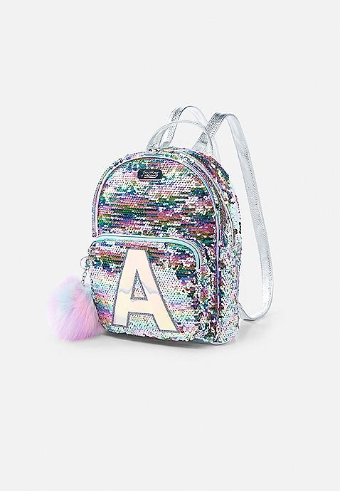 adc41f9f7e Pastel Initial Flip Sequin Mini Backpack