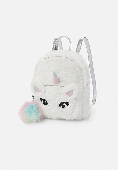 2317de80a85f Unicorn Faux Fur Mini Backpack | Justice
