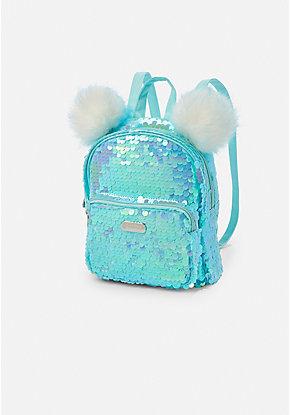 91c1cfbdae Flip Sequin Pompom Mini Backpack