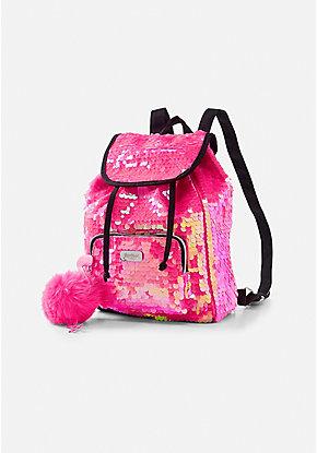 74dbee8260 Pink Flamingo Flip Sequin Mini Rucksack