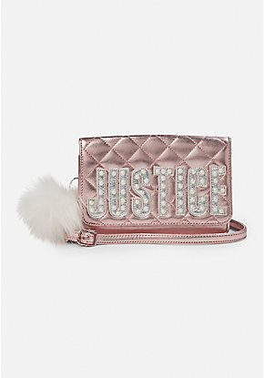 Pearl Logo Quilted Crossbody