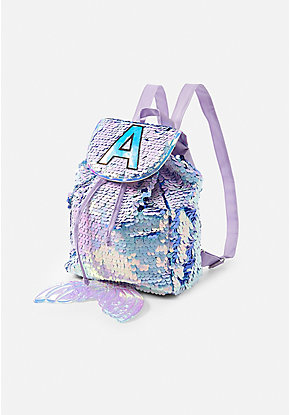 Flip Sequin Initial Mermaid Mini Rucksack