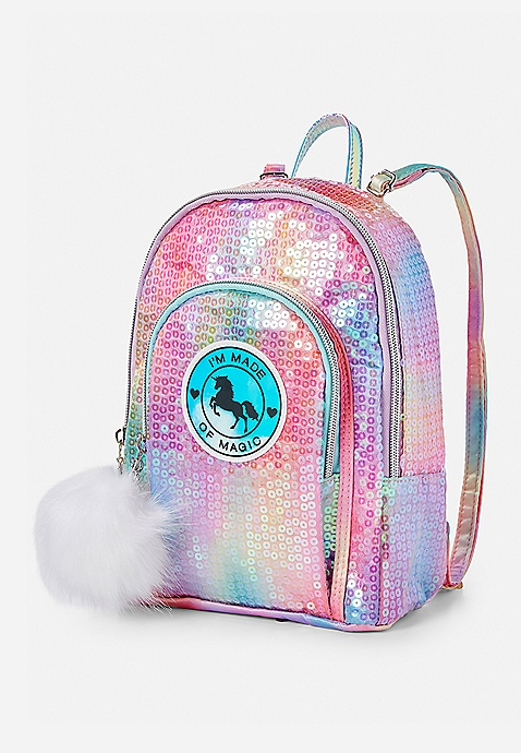 d3528c176d9e Unicorn Sequin Mini Backpack | Justice