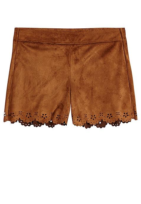 23b20b182b Faux Suede Soft Shorts- MOOS | Justice