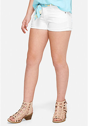 Pattern Belt Denim Shorts