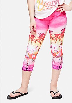 Ocean Crop Leggings