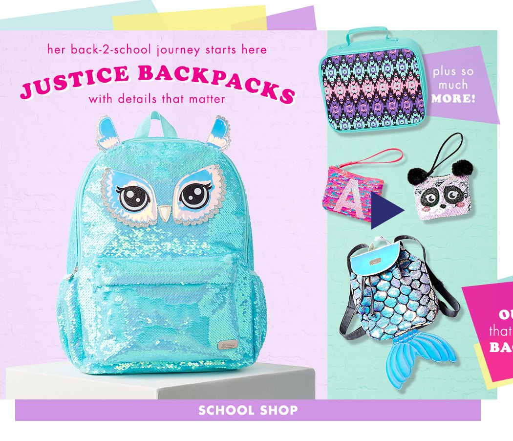 Justice Backpacks