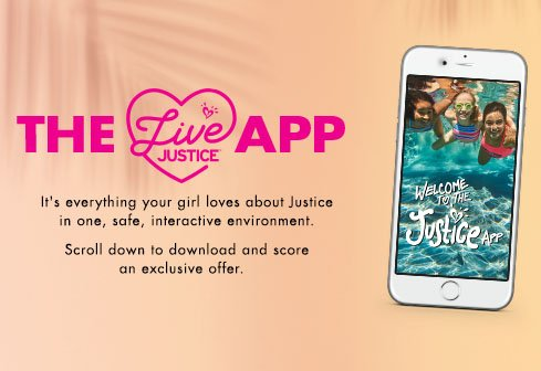 The Live Justice App - New Download Exclusive! Download on the Apple App Store. Free sparkling pouch with an app download.