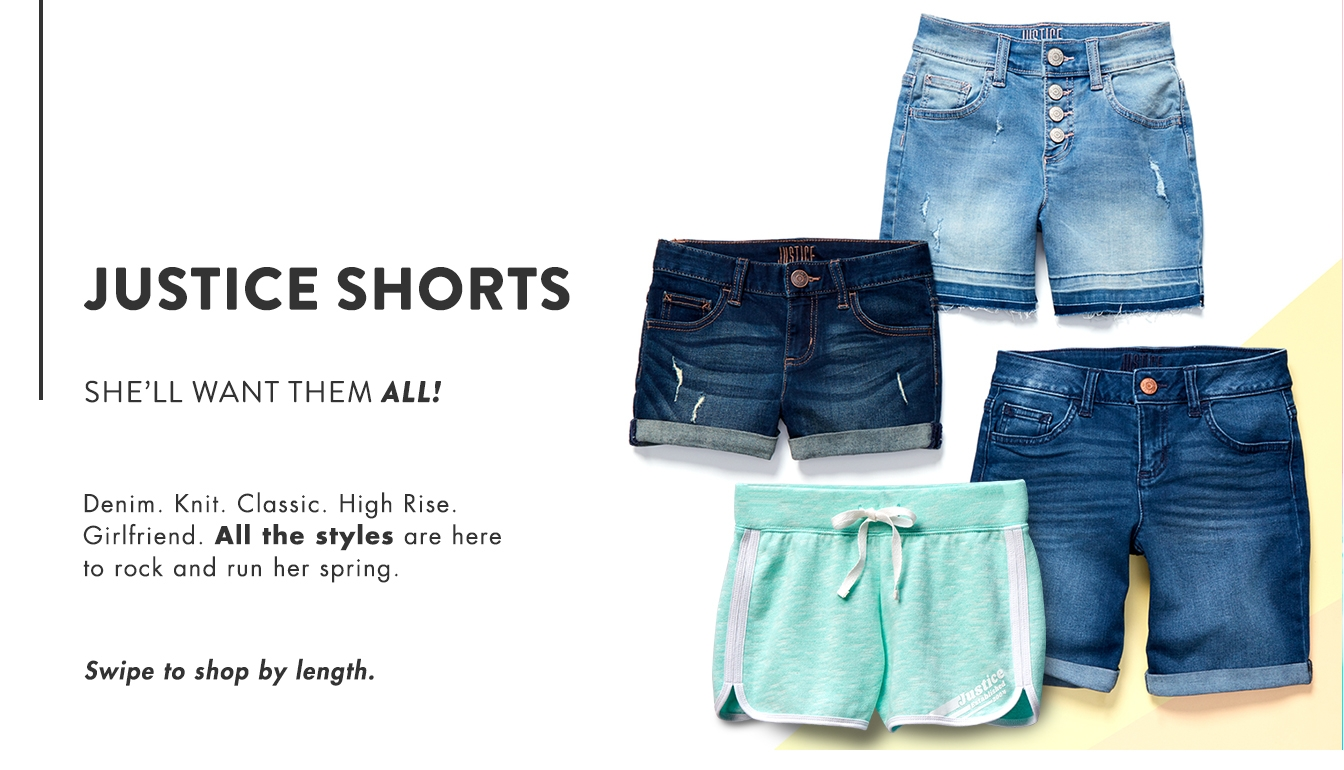 Justice Color Denim Short Shorts Peach Beach