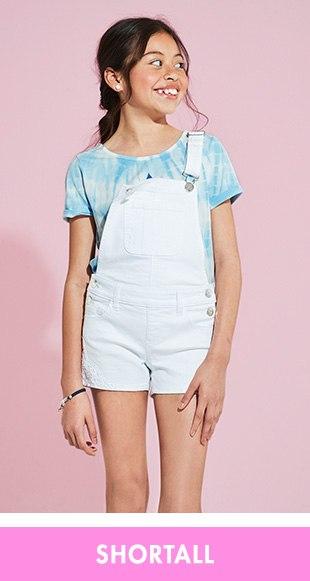4ca878eae Tween Girls' Denim & Knit Shorts - Denim Overalls | Justice