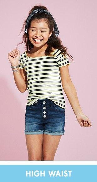 fc94e9048 Tween Girls' Denim & Knit Shorts - Denim Overalls | Justice