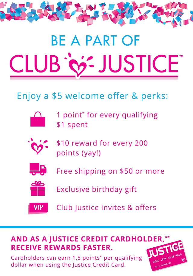 Sign up for Club Justice